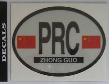 China Chinese Country Flag Oval Decal