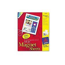 """Avery Inkjet Magnet Paper 8 1/2"""" x 11"""" White 3270"""