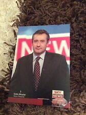 COLIN BRAZIER (SKY NEWS) UNSIGNED CAST CARD