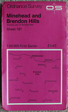 Ordnance Survey landranger MAP 181 Minehead & BRENDON Hills 1:50000 1974 OS Uk