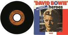"""""""David BOWIE chante en Français"""" Heroes / V2 Schneider  (SP 45tours français)"""