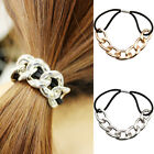 Fashion Womens Metal Elastic Hair Ties Band Ropes Ring Scrunchie Ponytail Holder