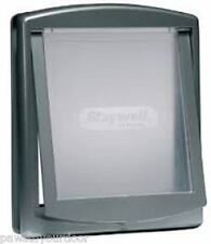 Staywell Petsafe 2 VIE bloccaggio MEDIUM DOG PET PORTA Cat Flap ARGENTO catflap 757