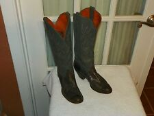 J. Chisholm Tall Genuine Lizard Leather Womens Western Gray Cowboy Boots sz 6 M