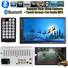 "7"" Double 2DIN Car Stereo MP5 Player Bluetooth Touchscreen MP3 FM Radio USB SD"