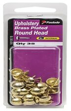 Paslode UPHOLSTERY NAILS 4.8x2mm 35 Pcs Round Head Brass Plated Steel AUS Brand