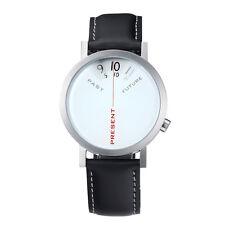 """Projects Watches """"Past, Present, Future"""" Cuarzo Acero Piel Reloj Hombre Blanco"""