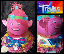 NEW Trolls Poppy Pink Egg Head Easter Bonnet Hat with real chocolate chick bunny