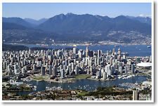 Vancouver Canada  - Travel City Landscape Cityscape Print - NEW POSTER