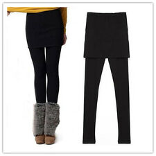 Lady Winter Women Cotton Elastic Stretchy Tunic Skirt Leggings Waist Yoga Pants