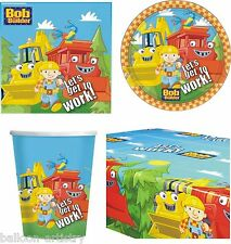 Bob The Builder Children's Birthday Party Supplies Tableware Pack For 16
