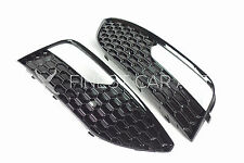 Für Audi A3 8V VFL NSW Blenden Schwarz Wabengitter Standard Stoßstange RS Look