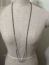 """chan luu 42"""" Gunmetal Mixed with Siver and Rose Gold Nuggets necklace"""