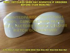 GENUINE BMW PEPPER WHITE MINI MIRROR COVER COOPER R55 R56 R57 R58 R59 R60 JCW GP