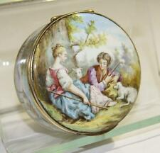 Austrian Viennese Hand Painted Enamel & Gilt Silver Box late 19th century