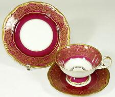 WEIMAR - Gedeck KAFFEEGEDECK Kaffeetasse Tasse - DORA - ROT Gold - Thüringen