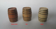 wood ship kit accessory wood brandy cask 25*18mm buckets 2 pcs/lot wood barrel