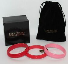JOAN RIVERS Set of 3 Pink and Red Bangle Bracelets J70427