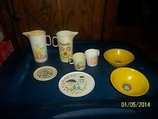 LOT OF PRENTEND PLAY DISHES PLATES CUPS PITCHERS CHEERIOS LUCKY CHARMS BIG BIRD