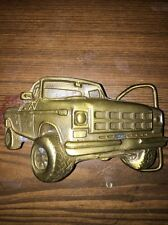 VINTAGE 1979 CUT-OUT 4X4 OFF ROAD PICKUP TRUCK BRASSTONE BELT BUCKLE Ford Chevy