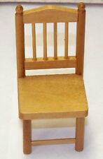Dollhouse Miniatures Chair Oak, for Dining Room or Kitchen