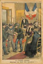 WEDDING PRISON CHEF BANDIT PRISONNIER LECA EPOUSE MADEMOISELLE VAN MAEL 1903