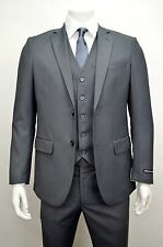 Men's 3pc  Gray Slim Fit Dress Suit Size 34S NEW Suit