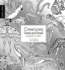 Field Guide ~ CREATURES GREAT AND SMALL by LUCY ENGELMAN ~ 35 Prints to colour