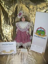 "Vintage Porcelain Victorian Doll ""Roseberry"" Cottage Path Collection w Stnd COA"