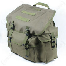 Olive Green GERMAN Army Rucksack Reproduction CANVAS Bag OD