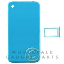 Door with Chrome Bezel for Apple iPhone 3G Blue Rear Back Panel Housing Battery