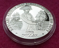 2007 COOK ISLANDS HORATIO NELSON SILVER PROOF $1 COIN AND COA