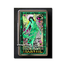 ABSINTHE Green Fairy Vintage Metal Business Card Case Holder