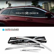 Chrome Window Visor Sun Guard Wind Rain Shield For Jeep Cherokee 2014~2017