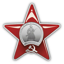 Soviet Red Star Order Army Car Bumper Sticker Decal 5'' x 5''