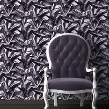 Muriva 3D réunis en soie effet vinyle velours gris-noir F72909