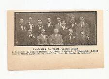 Lancaster Red Roses 1908 Team Picture Harry Coveleski Snake Deal Mike Grady