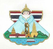 SP.ORDER ~ Thailand Angel & Charms handpainted Needlepoint Ornament Painted Pony