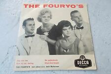 THE FOURYO'S ZEG NIET NEE 45 EP DUTCH  RARE