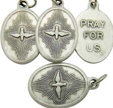 "MRT Lot 4 Holy Spirit Confirmation Catholic Medal Silver Plate Gift 3/4"" Italy"