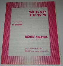 Partition vintage sheet music NANCY SINATRA : Sugar Town * 60's Lee HAZLEWOOD
