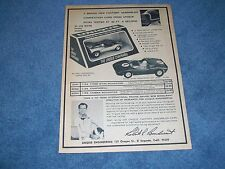 1966 Unique Engineering Vintage Slot Car Ad 1/24th Ford GT40 Chaparral