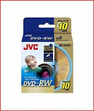 Jvc Dvd-rw 1.4 gb 8cm 30min Regrabable videocámara Mini Discos Dvd Spindle Pack 10