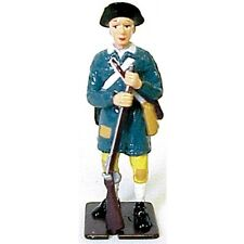 Toy Soldiers American Revolution Colonial Militia Metal Painted 1/32 Figure