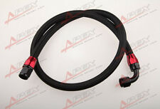 "36"" 90°10AN Nylon Braided Racing Performance Oil Fuel Coolant Line Hose Assembly"