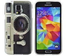 Hülle f Samsung Galaxy S5 i9600 Schutzhülle Case Cover TPU Fotoapparat Kamera