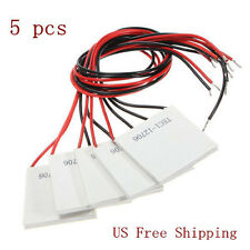 5Pcs TEC1-12706 12V 6A 72W Thermoelectric Cooler Heat Sink Cooling Peltier Plate