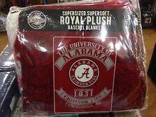 "Alabama Crimson Tide TEAM SUPER SOFT PLUSH WARM GAME THROW BLANKET 60"" X 80"""