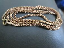 "14KT. Yellow Gold Wheat chain necklace 17 1/2"" long 5.70 grams lobster clawclasp"