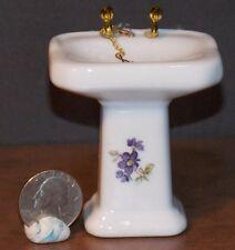 Dollhouse Miniature Ceramic Bathroom Sink 1:12 inch scale G28 Dollys Gallery